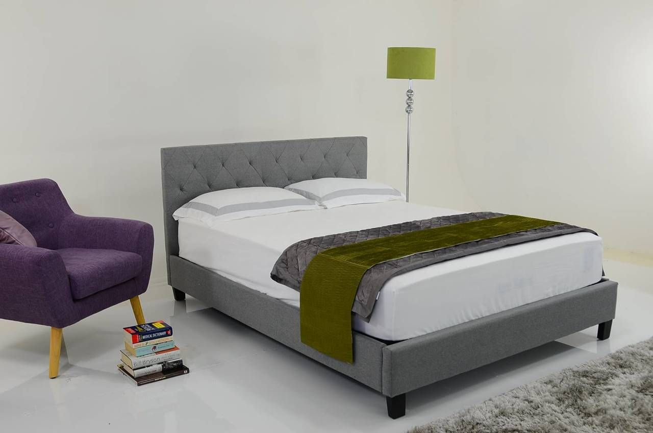 Charlotte King Size Fabric Low End Bed Frame